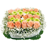 Fleurs et Composition Florale pour Fete des Meres, Fete des Peres, Anniversaire ... : CARRE TENDRESSE